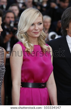 CANNES - MAY 23: Kirsten Dunst at the premiere screening of 'On the Road' presented in competition at the 65th Cannes film festival on May 23, 2012 in Cannes