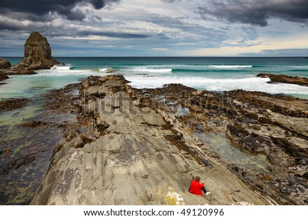 Cannibal Bay, Catlins Coast, New Zealand