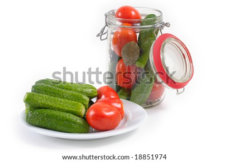 canning tomatoes and cucumbers