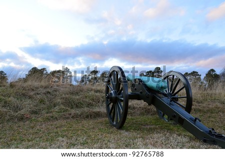 Cannon aimed at horizon