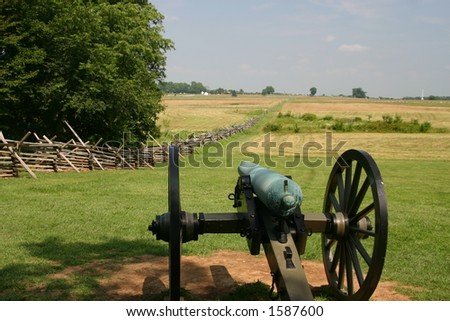 Cannon at Gettysburg - stock photo