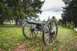 Cannon at the Soldiers' National Cemetery at the Gettysburg National Military Park in Pennsylvania