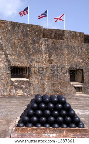 Cannon balls at Puerto Rican Fort