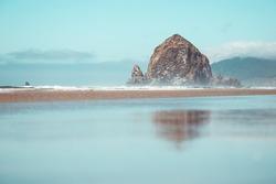 cannon beach landscape oregon Usa haystack rock