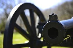 Cannon Fire of Civil War 19th century