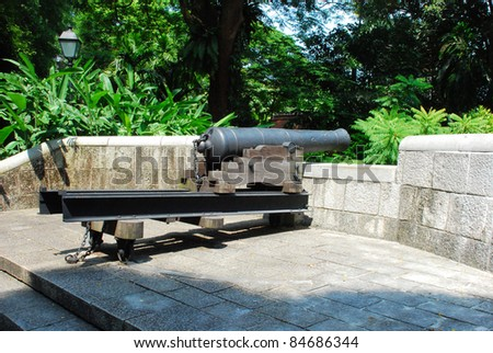 cannon in castle