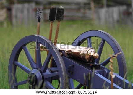 Cannon in field of Upper Canada Village