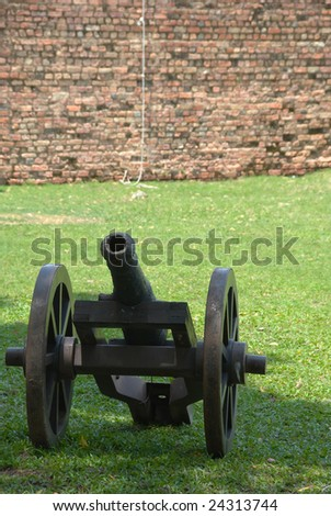 cannon on a fort