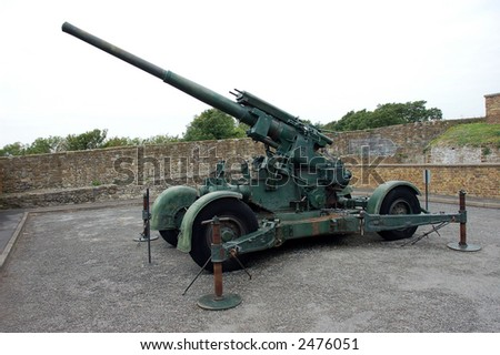 Cannon used during second world war.