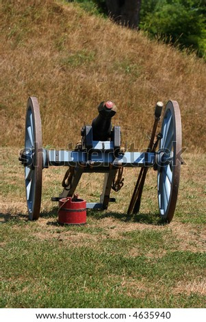 Cannon used in a War of 1812 battle re-enactment