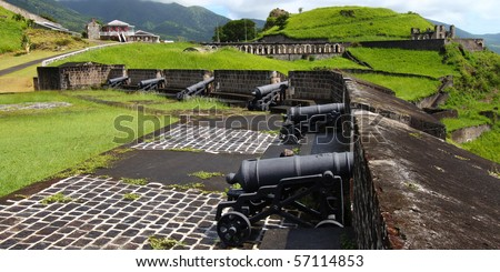 Cannons at Brimstone Hill Fortress - St Kitts