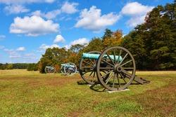 Cannons in Manassas National Battlefield Park, Manassas, Virginia, USA
