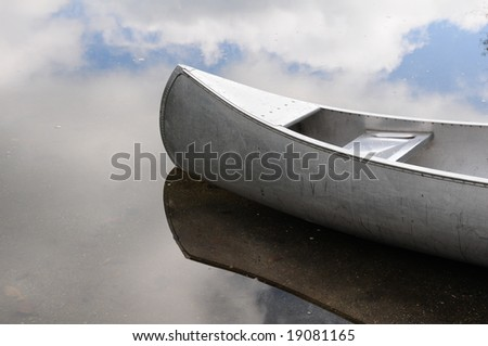 canoe adrift in the clouds