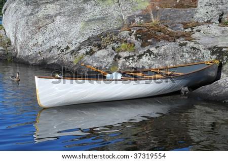 Canoe and duck