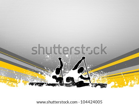 Canoe background with space (poster, web, leaflet, magazine)