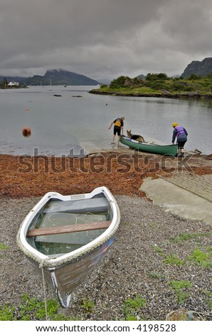 canoeing on Loch Carron, Plockton, Sutherland, NW Scotland