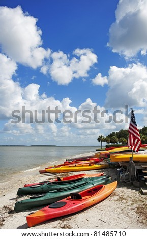 canoes on the beach