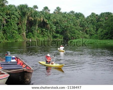 Canoing on the Orinoco Delta