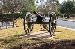 Canon on exhibition at the City of Poway Veterans Park in California.