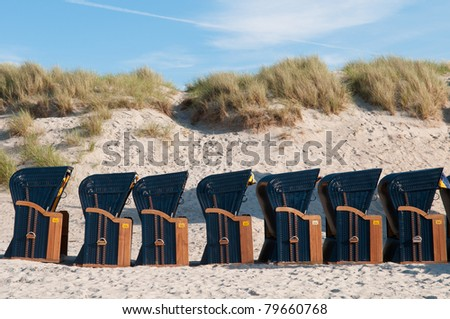 canopied beach chairs