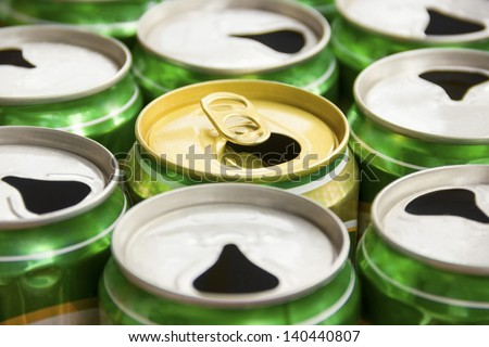 Cans background.