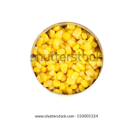 cans of corn. Iron packaging, a photo with top