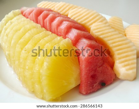 Cantaloupe Pineapple Watermelon