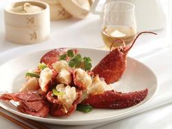Cantonese Ginger Scallion stir fry Lobster