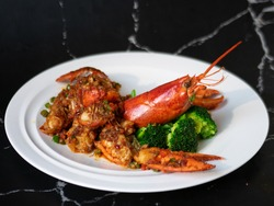 Cantonese menu - Lobster with XO Sauce
