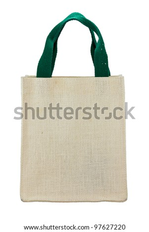 Canvas bag on a white background
