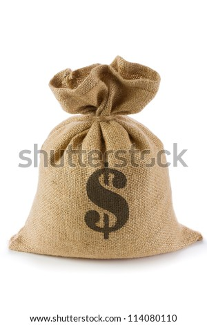 Canvas money sack