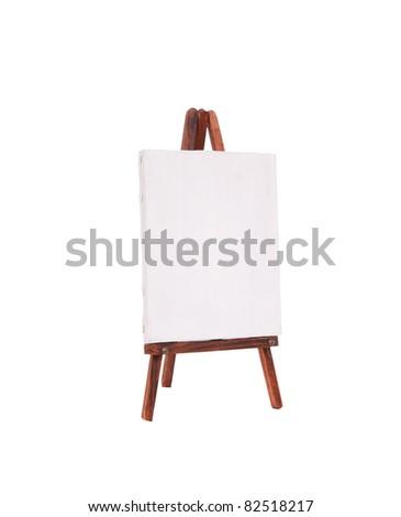Canvas on an easel