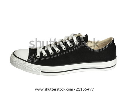 Canvas sneaker, isolated with clipping path