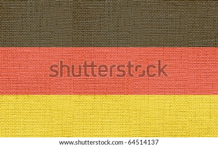 canvas styled flag of germany