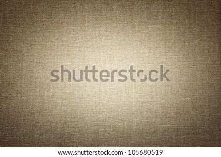 Canvas texture with vignette - stock photo