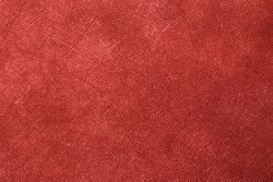 Canvas textured red background.
