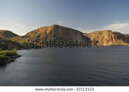 Canyon Lake near Phoenix in southern Arizona - stock photo