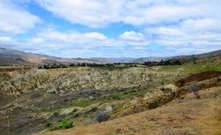 Canyon Land at Bannockburn. The Heart of the Desert of New Zealand
