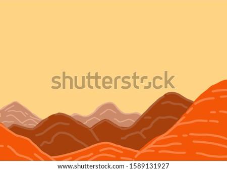 Canyon land red background like mars