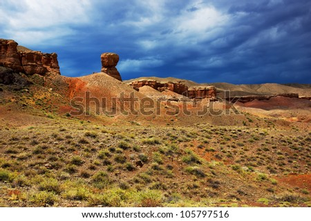 Canyon of Temirlik river, Kazakhstan