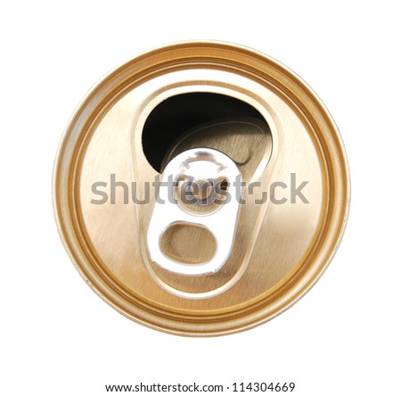 Cap of beer bottle on white