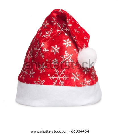 cap of Santa isolated on white