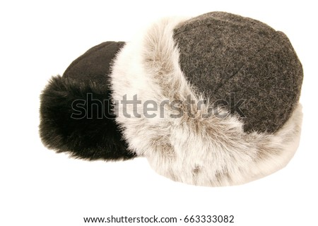 08f203aaaa69d Russian winter army hat isolated on white background Images and ...
