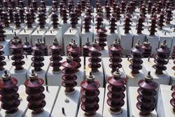 Capacitor banks for high voltage , outdoor substation.