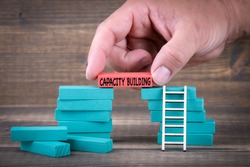 Capacity Building. Business Concept With Colorful Wooden Blocks