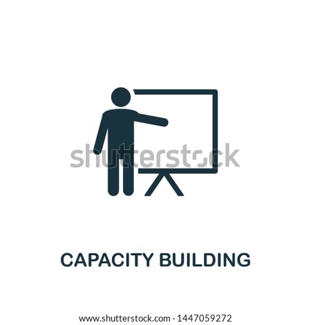 Capacity Building icon. Creative element design from business strategy icons collection. Pixel perfect Capacity Building icon for web design, apps, software, print usage.