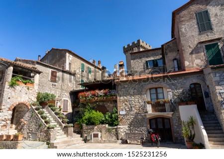 Capalbio, Grosseto, Tuscany, Italy: historic village in Maremma. Typical square