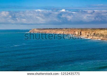 Cape Beddouza on the Atlantic coast, West coast of Morocco #1252435771