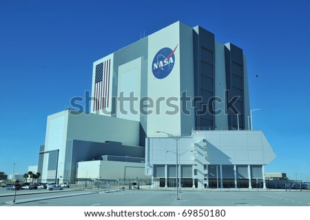 CAPE CANAVERAL, FL- DEC 28: The Vehicle Assembly Building at NASA, Kennedy Space Center in Florida, December 28, 2010.
