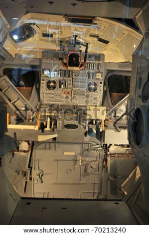 CAPE CANAVERAL, FL- JANUARY 2: The NASA's Space Shuttle Cockpit displayed at Kennedy Space Center in Cape Canaveral, Florida USA on January 2, 2011.